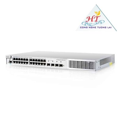 SWITCH RUIJIE 24 CỔNG 10/100/1000BASE-T CÔNG SUẤT 370W LAYER 2+ SMART MANAGED POE
